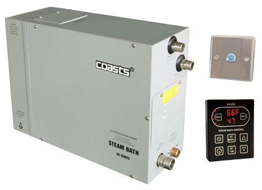 Parní generátor, vyvíječ páry pro saunu KSB-60CD s ovládacími panely KS-320A a KS30A, 380V